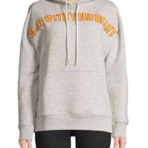 Sandro Paris Hoodie Sweater Gray Thick sz M
